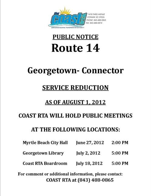 Route 14 Reduction Flier