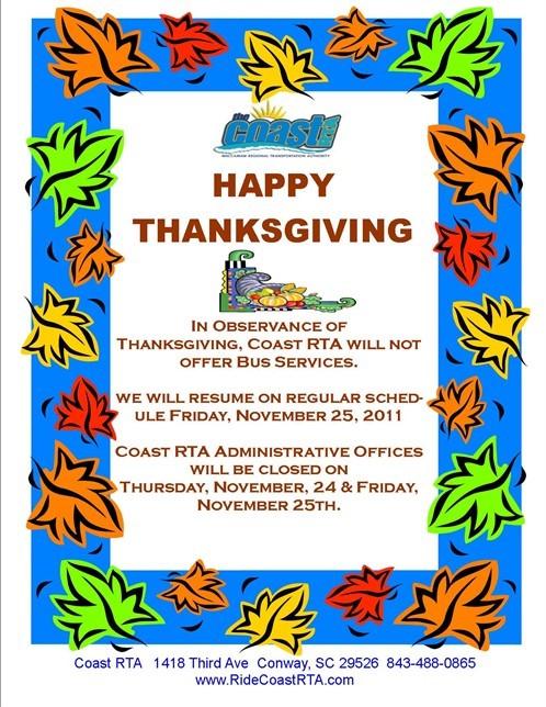 Thanksgiving 2011 Flyer